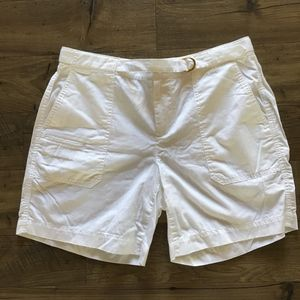 LAUREN Ralph Lauren White Cargo Shorts Women's 8